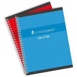 Cahier de texte hélicoïdale couleur 70g 17x22 cm 124 pages seyes CONQUERANT - 1