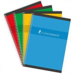 Cahier reliure hélicoïdale A4 180 pages seyes 70g NF 66 CONQUERANT - 1