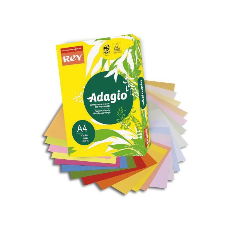 Ramette couleur vive 500 feuilles 80g A4 à la teinte - citron (jaune intense) ADAGIO - 1