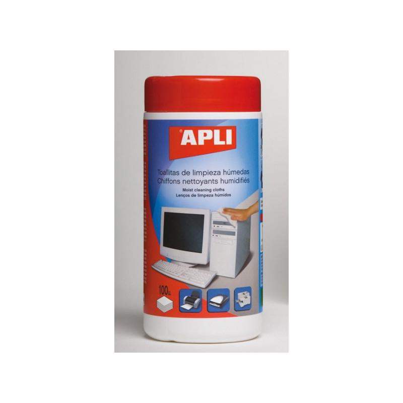 Boîte 100 chiffons humides  APLI - 1