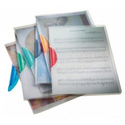Chemise Colorclip en polypropylène transparent A4, clip 3 mm PRODUIT GENERIQUE - 1