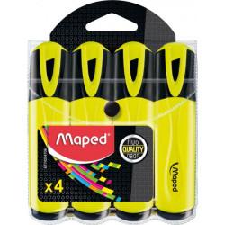 Gros fluo MAPED (Pochette de 4) - jaune MAPED - 1