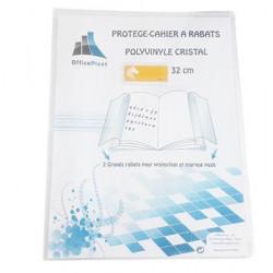 Protège cahier 24x32 cm 2 grands rabats cristal transparent épaisseur: 20/100e - incolore PRODUIT GENERIQUE - 1