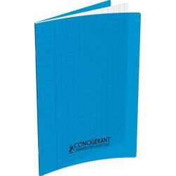 Cahier polypropylène 90g 48 pages seyes 17x22 cm  -  bleu CONQUERANT - 1