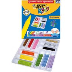 Classpack 288 craies 12 cm 12 couleur Plastidecor bic BIC - 1