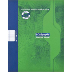 Cahier brouillon gamme écologique 56g 48 pages seyes 17x22 cm CALLIGRAPHE - 1