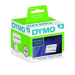 Cassette de 220 étiquettes pour adresses et badges 101 x  54 mm noir sur fond blanc pour Labelwriter