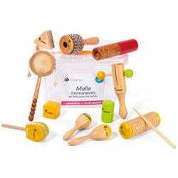 Malle instruments en bois pour les petits