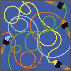 Tapis labyrinthe des couleurs