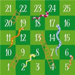 Tapis de jeux serpents et échelles