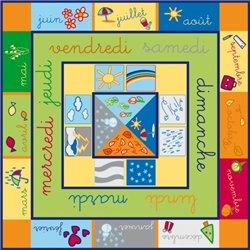 Grand tapis d'apprentissage 1er âge 'le calendrier'