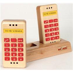 Le set de téléphone en bois