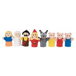 """Atelier musical des marionnettes : """"les trois petits cochons"""" et """"le petit chaperon rouge""""."""