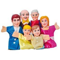 Assortiment de marionnettes 'La famille'