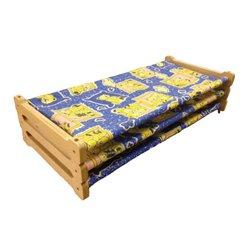 Lot de 3 couchettes empilables en bois