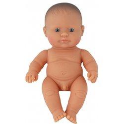 Bébé européen garçon 21 cm sans cheveux