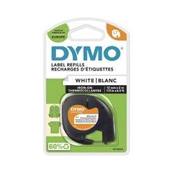 Étiquettes pour tissus thermocollants Dymo LT noir/blanc 12 mm x 2 m