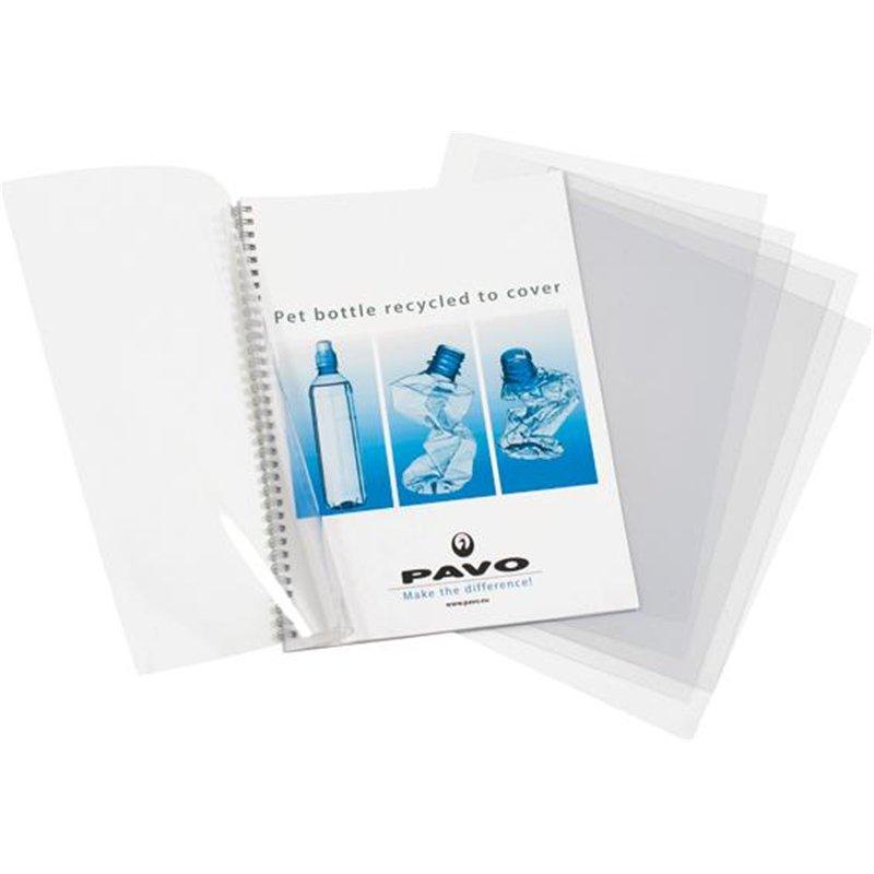 Feuille couverture transparent incolore 21x29.7 cm (Paquet de 100)