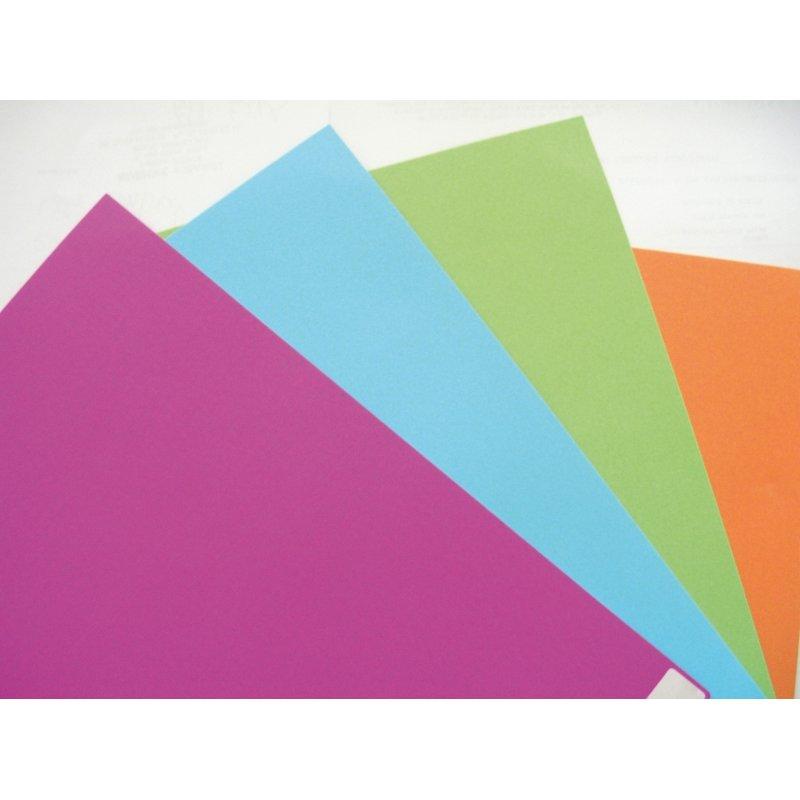 Boite de 25 couverture lisse A4 en couleurs tendances assorties