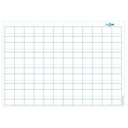 Tableau blanc effaçable à sec 70 x 100 cm - réglure double ligne maternelle