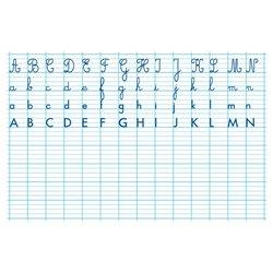 Tableau effaçable à sec 80 x 120 cm alphabet et seyes recto-verso