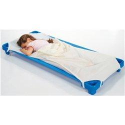 Drap housse couleur pour couchette maternelle