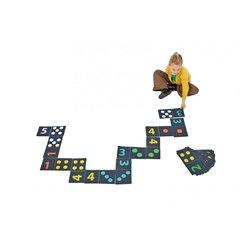 Dominos géants de sol chiffres et points