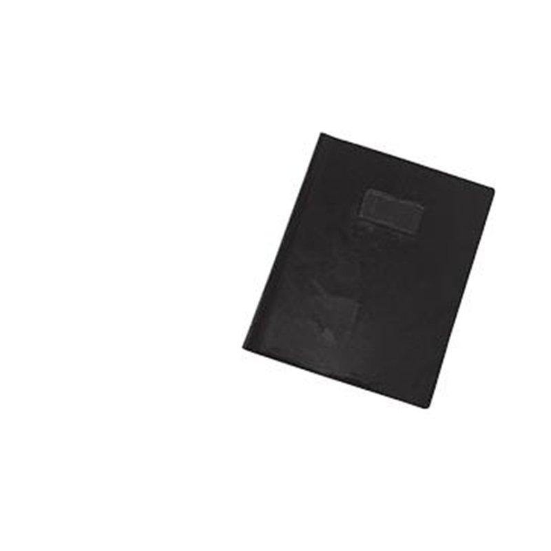Protège cahier plastique 24x32 cm couleur opaque épaisseur: 20/100e - Noir