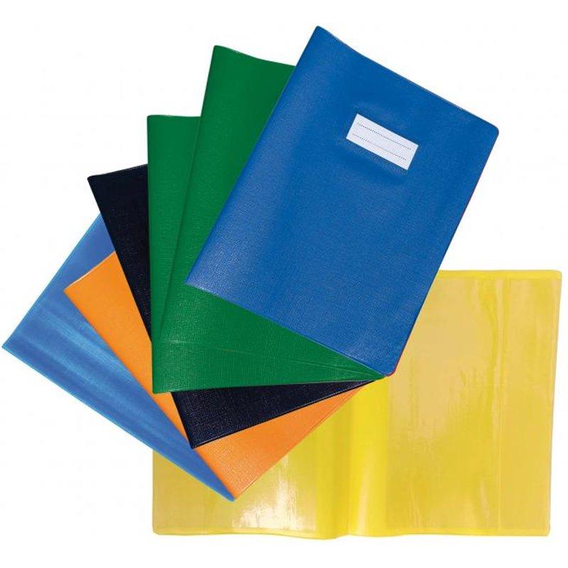 Protège-cahier 17x22 cm plastique épais. épaisseur 20/100e - Vert foncé