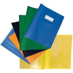 Protège-cahier 2 grands rabats plastique 17x22 cm épaisseur 18/100e - Bleu