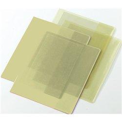 Protège-cahier plastique 2 grands rabats cristal 17x22 cm épaisseur: 16/100e -  Incolore