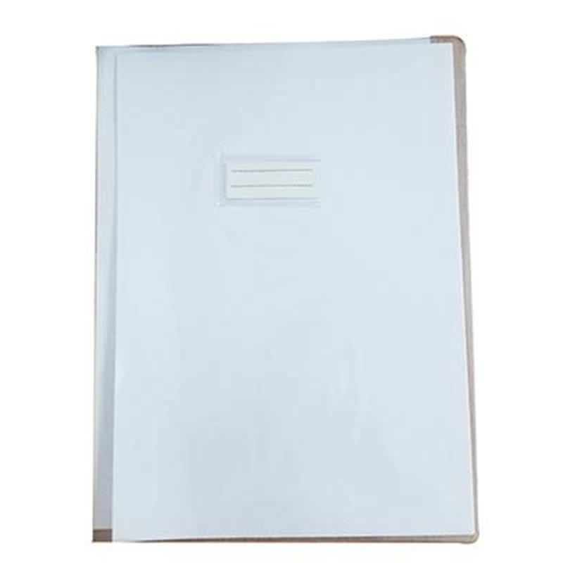 Protège cahier plastique 24x32 cm cristal transparent épaisseur: 16/100e - incolore