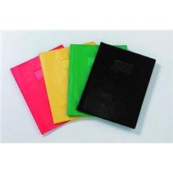 Protège cahier plastique 24x32 cm couleur opaque épaisseur: 20/100e - Jaune