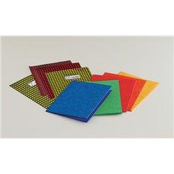 Protège-cahier carte lustrée forte 2 très grands rabats 390g 17x22 cm 3/10e - Rouge