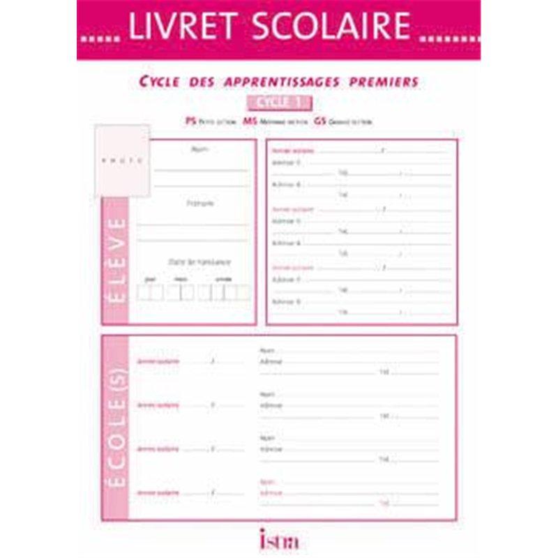Livret scolaire d'évaluation cycle 1 Istra 22x30.5 cm - 20 pages