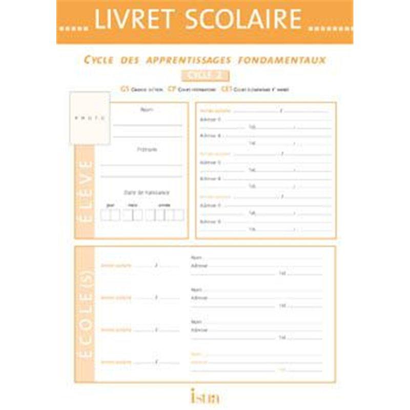 Livret scolaire d'évaluation cycle 2 Istra 22x30.5 cm - 20 pages