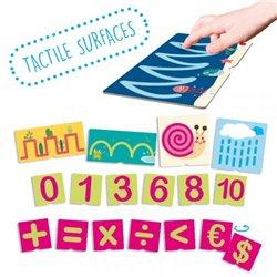 Fiches tactiles sur les numéros et pré-écriture