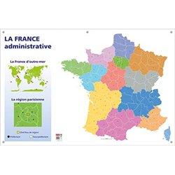 Carte murale muette France administrative
