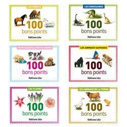 Série de 5 boîtes 100 bons points assortis