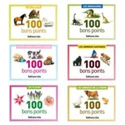 Bons points 5,7 x 7,8 cm (Boîte de 100) - animaux sauvages