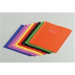 Protège-cahier plastique 17x22 cm épaisseur 12/100e - Rouge