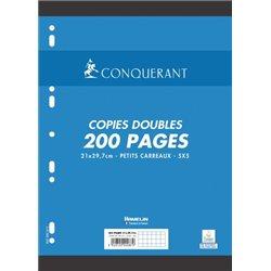 Copies doubles 200 pages 70g A4 perforées 5x5 NF 87 (Etui de 50)