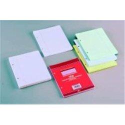 Feuillet recharge classeurs 100 pages 80g 17x22 cm seyes  - jaune (Etui de 50)