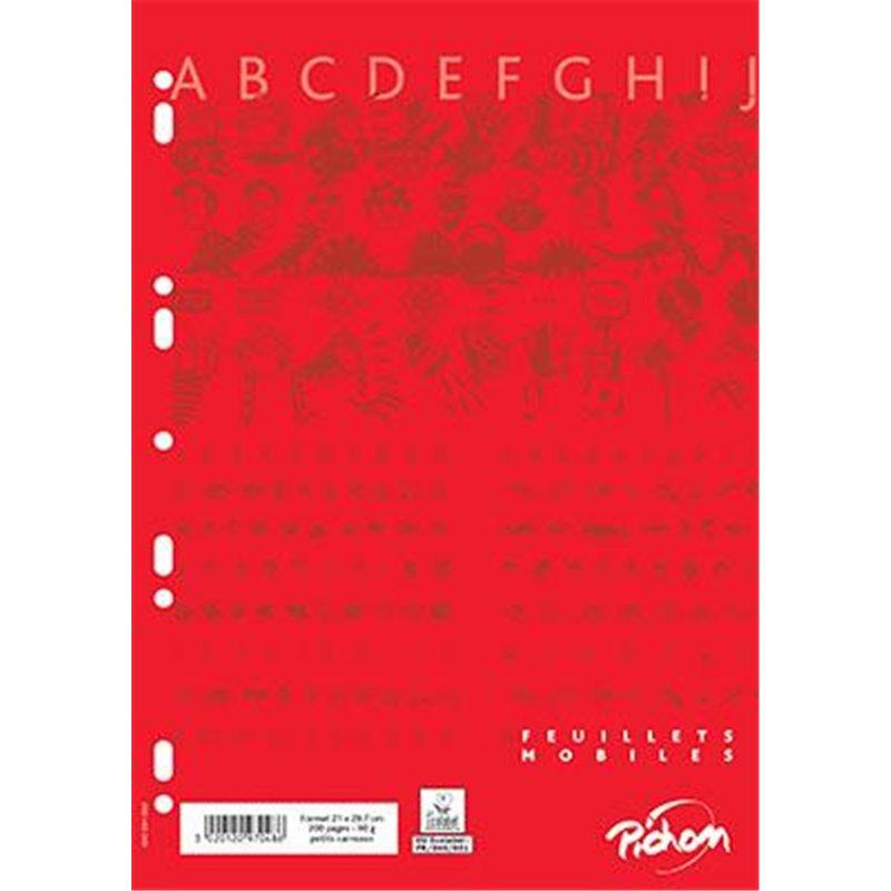 Feuillet recharge classeurs 200 pages A4 5x5 blanc 90g (Etui de 100)