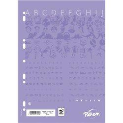 Feuillet recharge classeurs 80 pages A4 dessin uni 120g (Etui de 40)