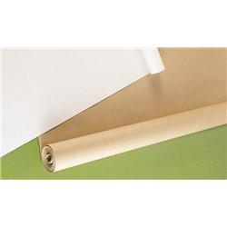 Rouleau kraft - 10 m x 1 m - 64 g - blanc
