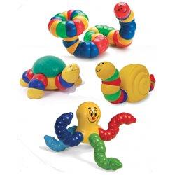 Le maxi kit 4 animaux. octopus, bruco, titus, lulu