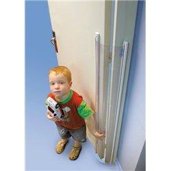 Protection totale anti-pince doigts pour ouverture de porte à 90 ° vers l'extérieur