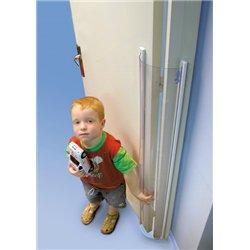 Protection totale anti-pince doigts pour ouverture de porte vers l'intérieur