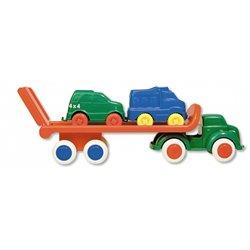 Le transporteur viking toys, avec 2 voitures. l. 31 cm